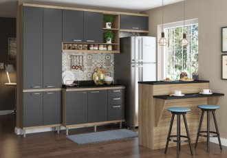 Imagem - Cozinha Completa Multimóveis Sicilia 06 Peças 5846 MDP cód: 37714