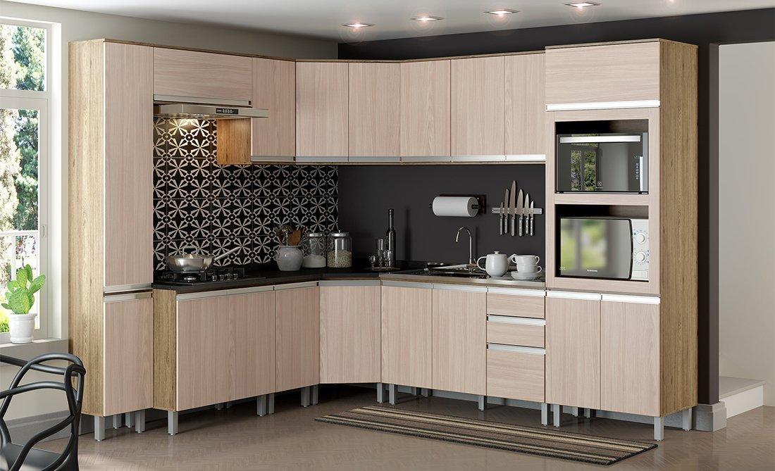 Imagem - Cozinha Modulada Henn 13 Peças Integra Rústico/Fendi cód: 35803