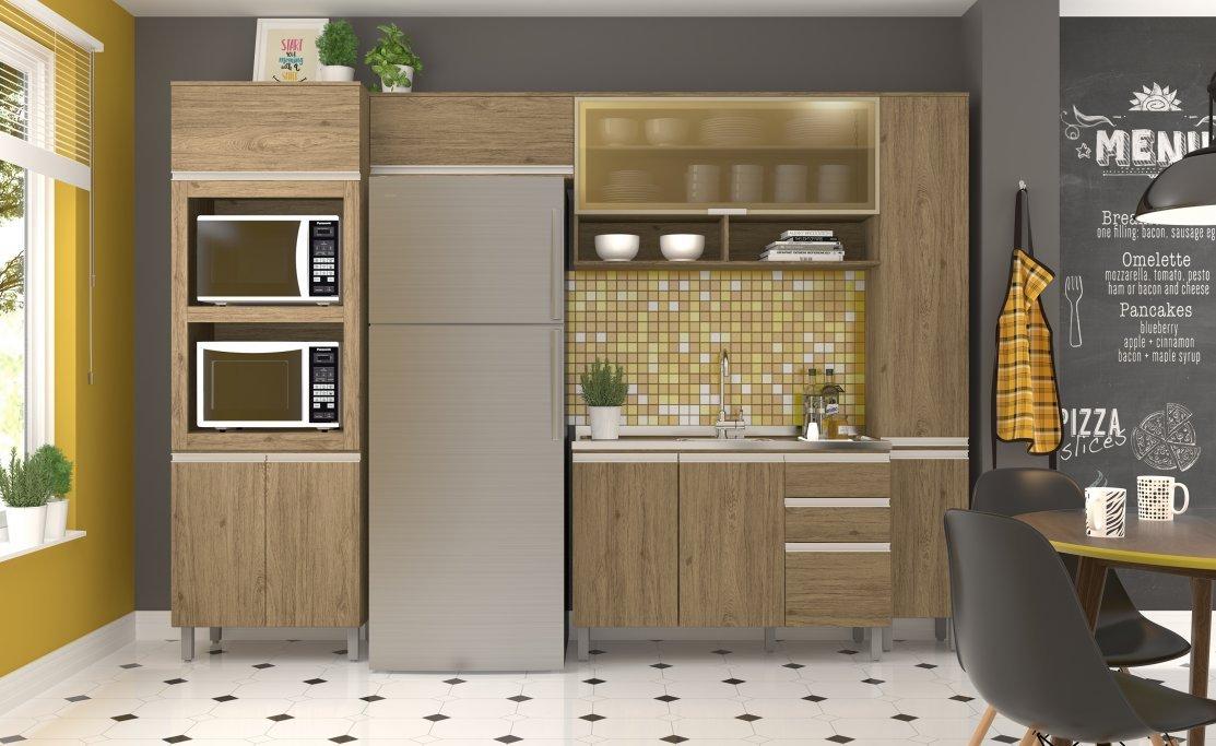 Imagem - Cozinha Modulada Henn 5 Peças Integra Rústico cód: 35813