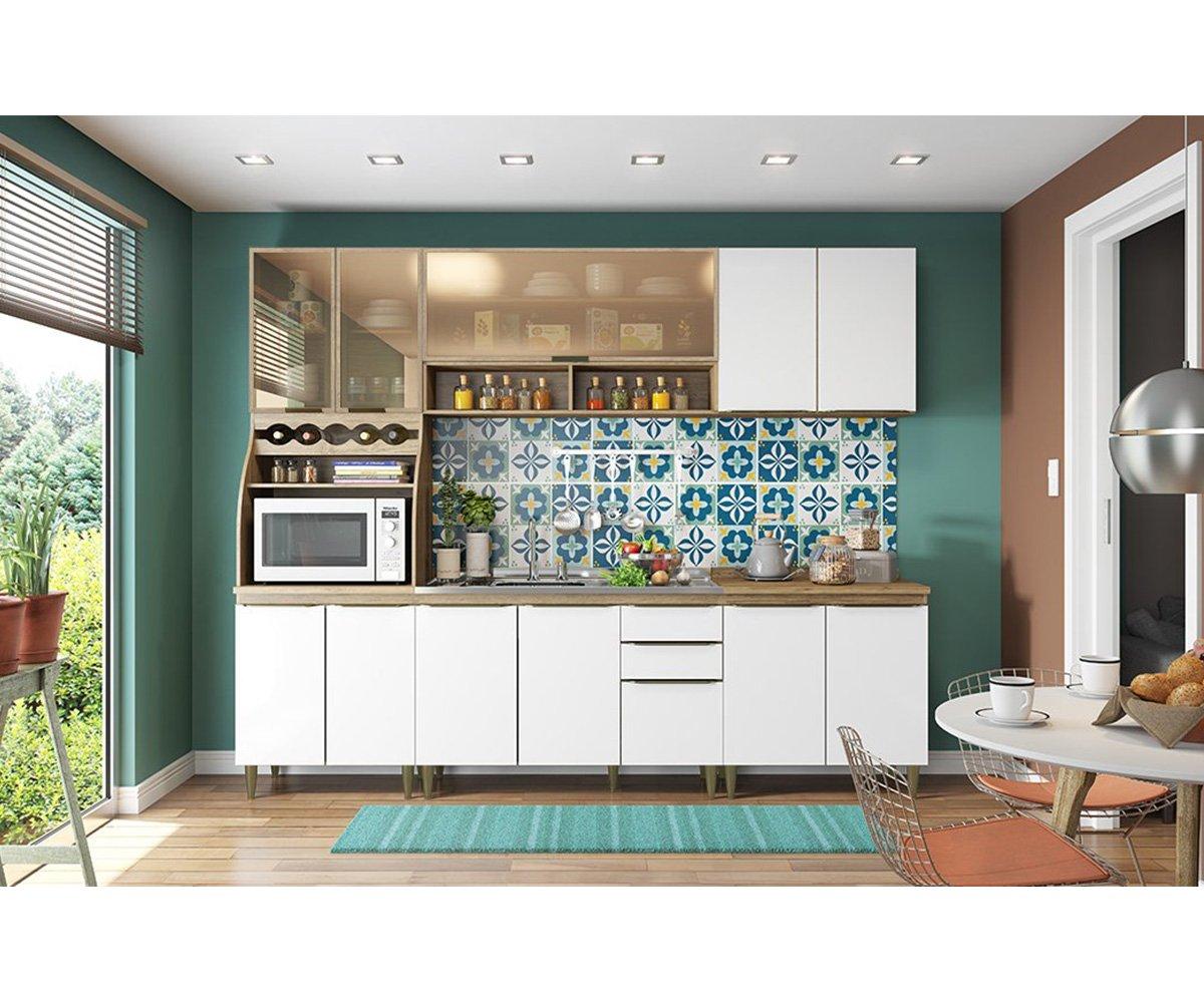 Imagem - Cozinha Modulada Henn Decore Rústico/Branco HP cód:
