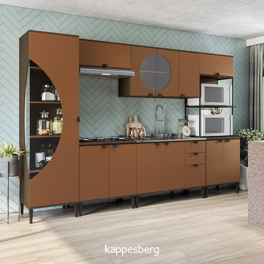 Imagem - Cozinha Modulada Kappesberg Pop 6 Peças Terracota cód: 36593