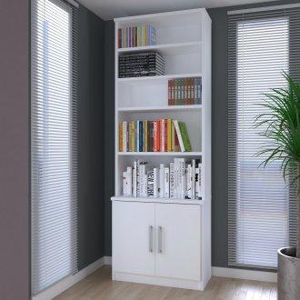 Imagem - Estante De Livros Foscarini 1277 2 Portas Branco  cód: 37102