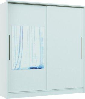 Imagem - Guarda Roupa 2 Portas De Correr  C/ 2 Espelhos Castro Elegance MDP Cor Branco