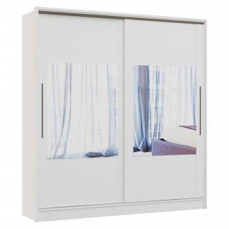 Imagem - Guarda Roupa 2 Portas De Correr C/ 4 Espelhos Castro Elegance MDP Cor Branco