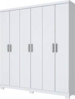 Imagem - Guarda Roupa Briz 6 Portas B50-10 Branco cód: 3361