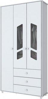 Imagem - Guarda Roupa Bambolê 3 Portas Henn Branco cód: 3221