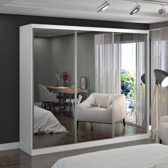 Imagem - Guarda Roupa Casal Foscarini 7318E3 3 Portas com 3 Espelhos 100% MDF