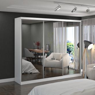 Imagem - Guarda Roupa Casal Foscarini 774E3 3 Portas com 3 Espelhos 100% MDF  cód: 37042