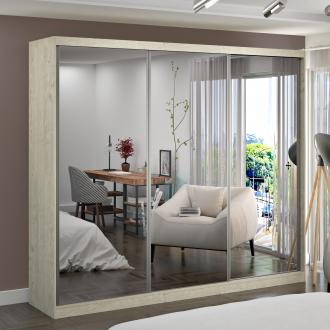 Imagem - Guarda Roupa Casal Foscarini 3 Portas com 3 Espelhos 100% MDF 7320G4E3 cód: 37090