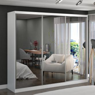 Imagem - Guarda Roupa Casal Foscarini 7320G4E3 Portas com 3 Espelhos 100% MDF  cód: 37088