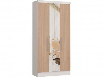 Imagem - Guarda Roupa Castro Infinity 03 Portas 1 Espelho Branco  MDP