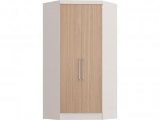 Imagem - Guarda Roupa Castro Infinity Canto Closet 02 Portas Branco Nogueira MDP cód: 35757