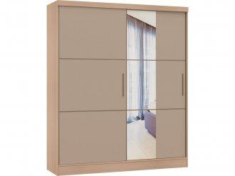Imagem - Guarda Roupa Classic Linha Quarto Castro 2 Portas com Espelho cód: 37552654841