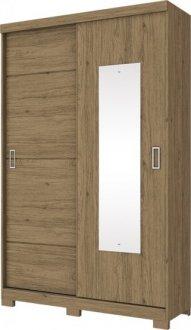 Imagem - Guarda Roupa Henn Dakota 2 Portas Deslizantes Rústico cód: 3184