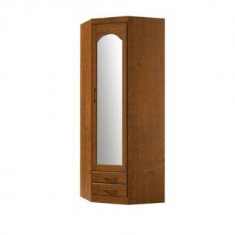 Imagem - Guarda Roupa de Canto 01 Porta com Espelho 1063T Finestra Parma Imbuia  cód: 1089