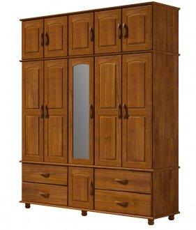 Imagem - Guarda roupa Finestra 1732 Onix Tripartido 11 Portas com espelho  cód: 34260