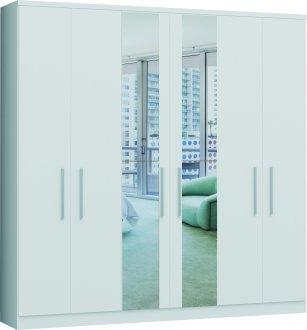 Imagem - Guarda Roupa Garten Linha Quarto Castro 6 Portas 2 Espelhos MDP cód: 37961