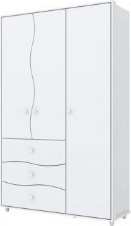 Imagem - Guarda Roupa Henn Adoleta 03 Portas 03 gavetas Branco cód: 36810
