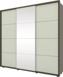 Imagem - Guarda Roupa Henn Colina 03 Portas Deslizantes C/ 01 Espelho Damasco HP/Areia HP cód: 36908