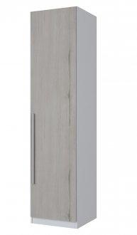 Imagem - Guarda Roupa 1 Porta 40cm Exclusive Henn Branco HP com Carvalho cód: 1038