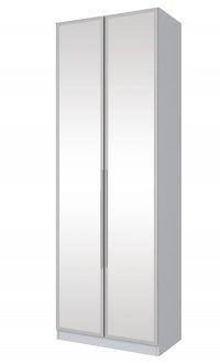 Imagem - Guarda Roupa 2 Portas 3 Gavetas Espelho Exclusive Henn Branco HP cód: 1042