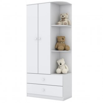 Imagem - Guarda Roupa Infantil Henn Labirinto 02 Portas 02 Gavetas Branco cód: 36823