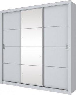 Imagem - Guarda Roupa Monet 3 Portas Deslizantes Henn Branco HP cód: 3172