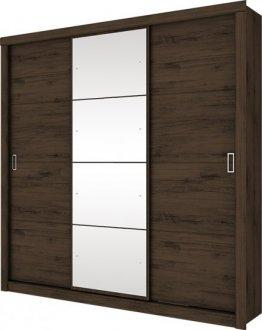 Imagem - Guarda Roupa Monet 3 Portas Deslizantes Henn Café cód: 3171