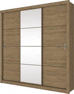 Imagem - Guarda Roupa Monet 3 Portas Deslizantes Henn Rústico cód: 3173