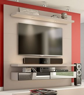 Imagem - Home Theater Suspenso com Led e Espelhos TB107E Dalla Costa Fendi cód: 1113
