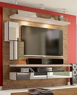 Imagem - Home Theater Suspenso com Led e Espelhos TB109E Dalla Costa Nobre com Fendi cód: 1116