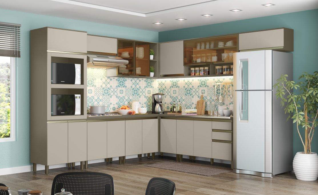 Imagem - Jogo De Cozinha Henn 10 Peças Connect Cor Duna/ Cristal