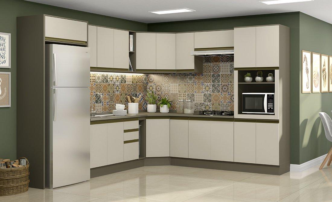 Imagem - Jogo De Cozinha Henn 14 Peças Connect Cor Duna/ Cristal