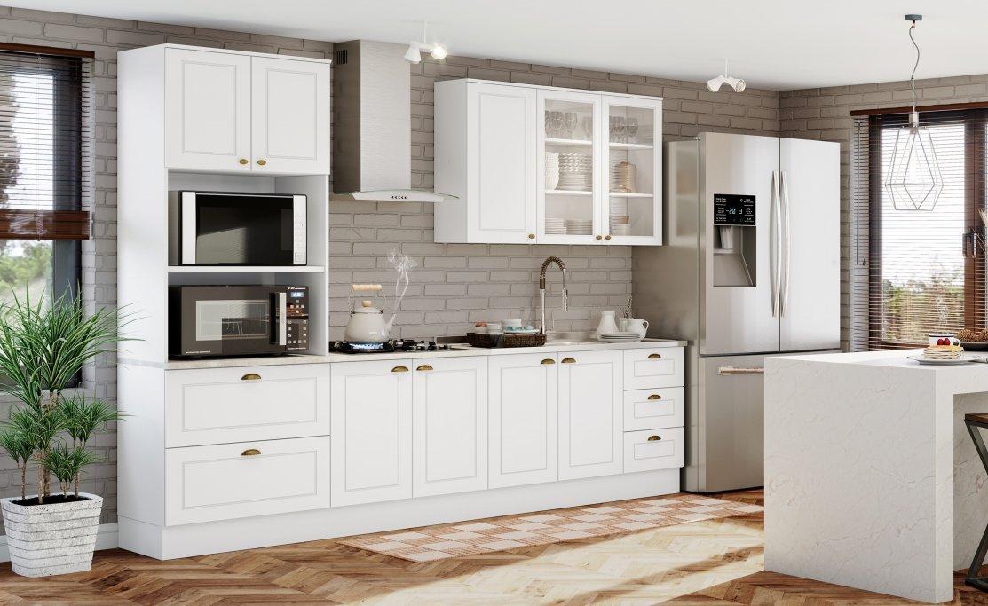 Imagem - Jogo De Cozinha Henn 5 Peças Americana Cor Branco HP