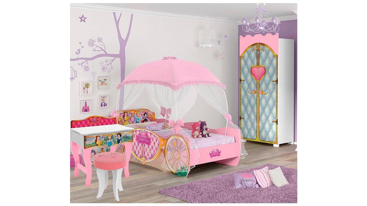 Imagem - Jogo de Quarto Infantil Encantado Pura Magia Rosa cód: 36446