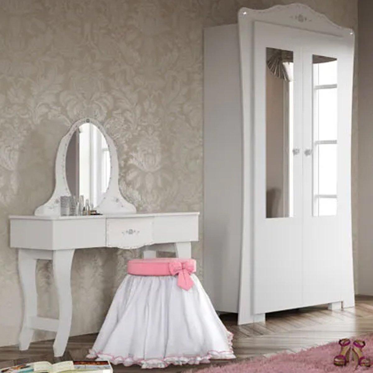 Imagem - Jogo de Quarto Intantil Encanto Clean Pura Magia Branco cód: 36451