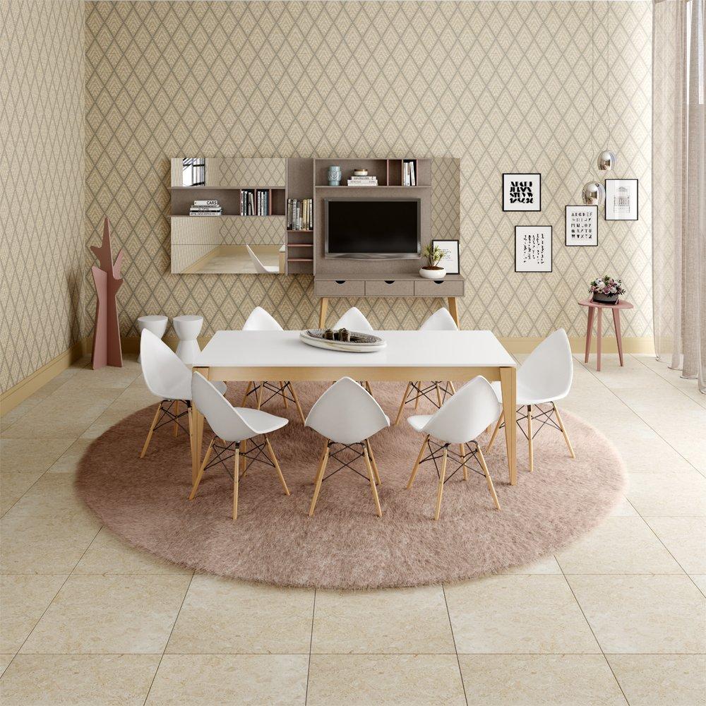 Imagem - Jogo Sala de Jantar Falkk Mesa com 8 Cadeiras cód: