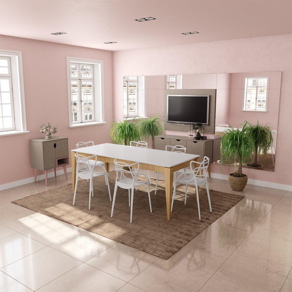Imagem - Jogo Sala de Jantar Falkk Mesa para 6 Cadeiras cód: