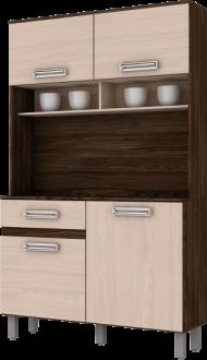 Imagem - Kit Cozinha Compacta 105cm Briz Moka com Fendi cód: 3424