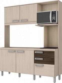 Imagem - Kit Cozinha Compacta 160cm Briz Fendi com Moka cód: 3415