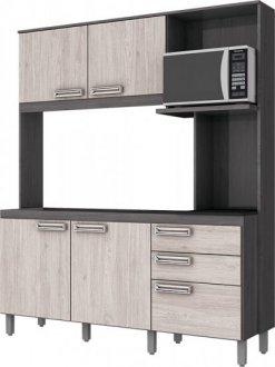 Imagem - Kit Cozinha Compacta Briz 160cm Gris  Palha cód: 3416