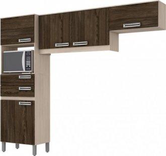 Imagem - Kit Cozinha Compacta 5 Portas Briz Fendi com Moka cód: 3420