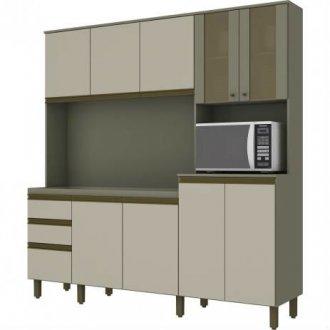 Imagem - Kit Cozinha Compacta Briz B118 10 Portas 02 Gavetas Duna Cristal cód: 35464