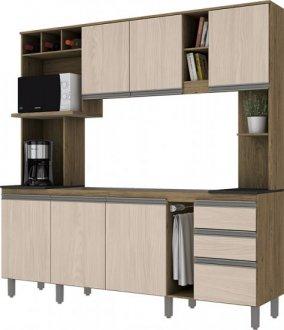 Imagem - Kit Cozinha Compacta com Garrafeiro Briz Rústico Fendi cód: 3412