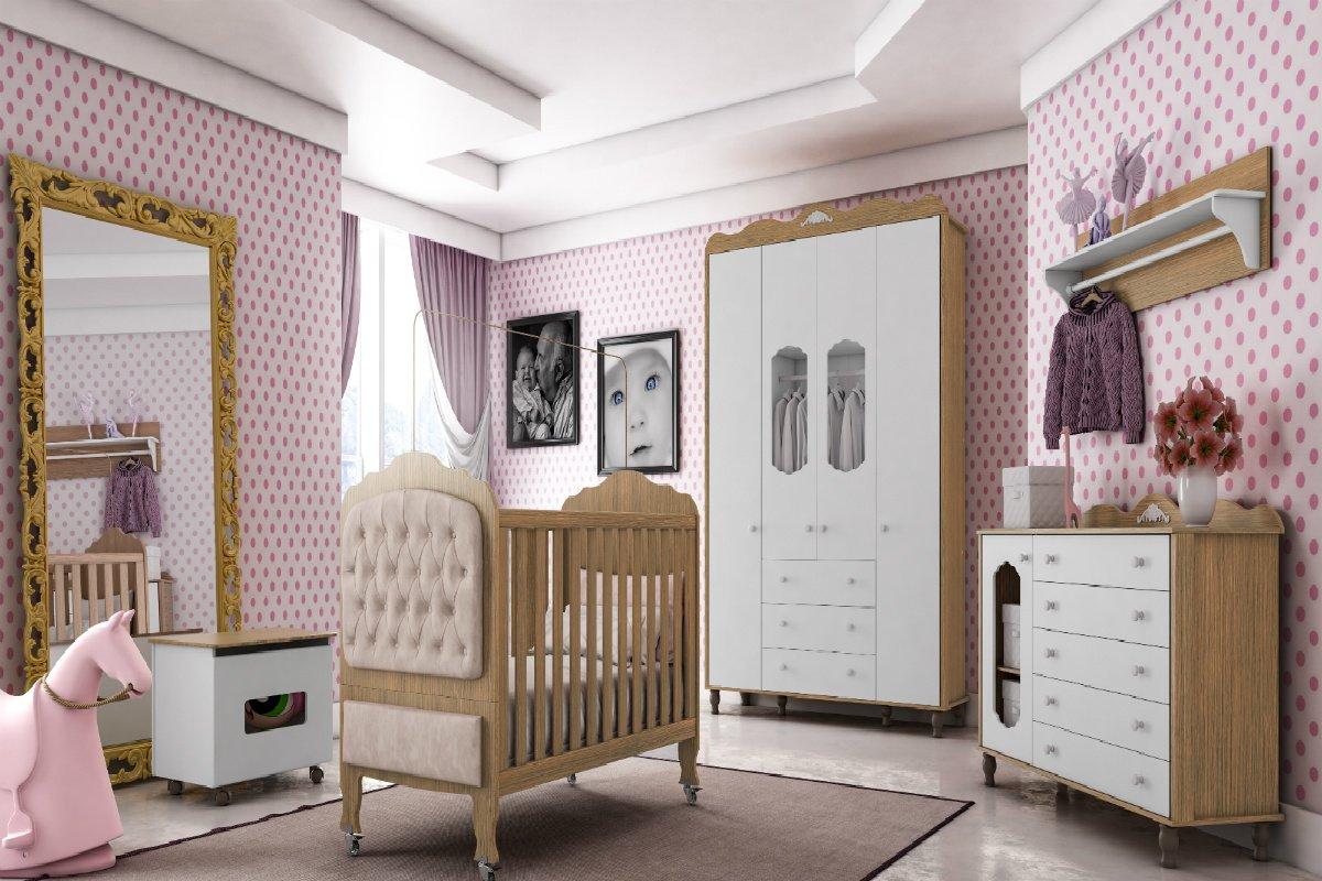 Imagem - Kit Quarto Infantil Bambinello Sonhare Duetto com Branco  cód: 34898