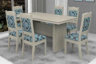 Imagem - Mesa América com 6 Cadeiras Valência Móveis Dolimar Teka cód: 2798