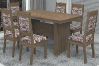 Imagem - Mesa América com 6 Cadeiras Valência Móveis Dolimar Wengue cód: 2799