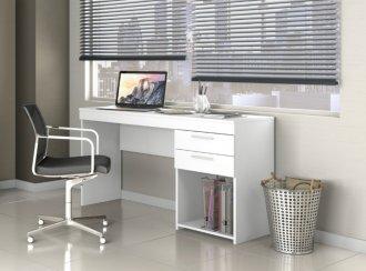 Imagem - Mesa Office 02 Gavetas Notável Branco  cód: 34171