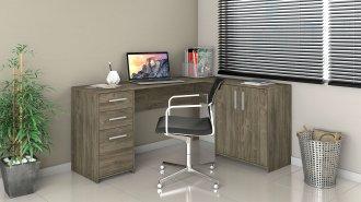 Imagem - Mesa Office Canto Notavel Canela cód: 35498