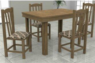 Imagem - Mesa Verona Tampo MDF 4 Cadeiras Rubi Móveis Dolimar Inovata cód: 2803